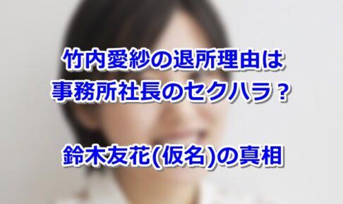 竹内愛紗 事務所 退所 引退 理由 岡田 岡田直弓 社長 セクハラ
